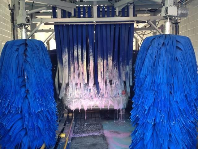Blue Brush Car Wash Machine Autobase With High Pressure Water Spray Systems