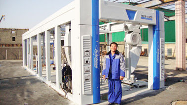 ประเทศจีน Blue Brush Tunnel Car Washing Equipment For Washing 60 - 80 Vehicles Per Hour ผู้ผลิต